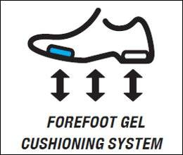 Forefoot GEL® Cushioning System (GEL® in forefoot)